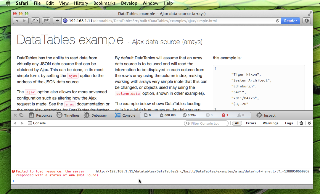 Safari debugging - step 4